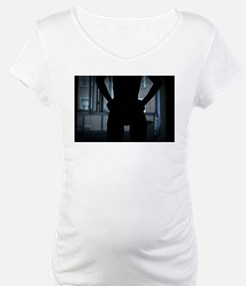 Silhouette of sexy young lady with in bedroom fine