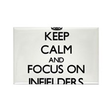 Keep Calm and focus on Infielders Magnets