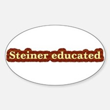 Steiner educated gifts Oval Decal
