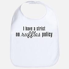 No Ruffles Bib