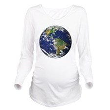 Earth Long Sleeve Maternity T-Shirt