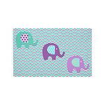 Aqua Purple Chevron Elephants 3'x5' Area Rug