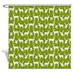 Deer on Green Shower Curtain