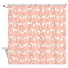 Deer On Pink Shower Curtain