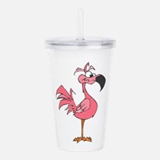 pink flamingo Acrylic Double-wall Tumbler