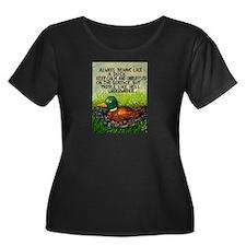 Duck Paddle Plus Size T-Shirt