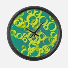 Unique Fluorescent Large Wall Clock