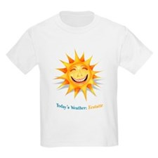 """""""Today's Weather: Ecstatic"""" Kids T-Shirt"""