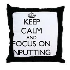 Cute Digitizing Throw Pillow
