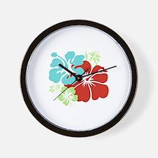 Hawaiian Hibiscus Wall Clock