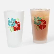 Hawaiian Hibiscus Drinking Glass