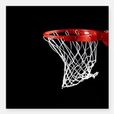 "Basketball Hoop Square Car Magnet 3"" x 3"""