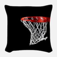 Basketball Hoop Woven Throw Pillow