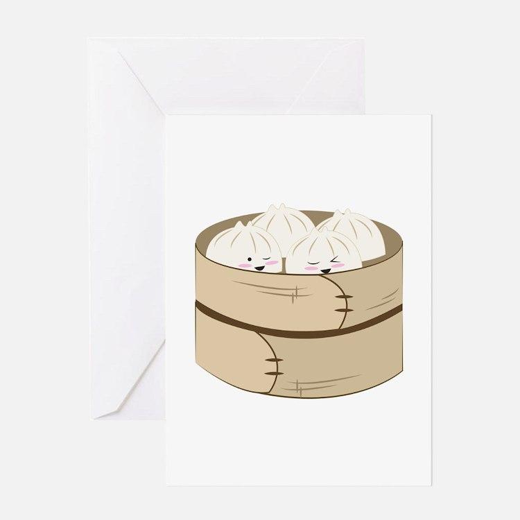 Dumplings Greeting Cards