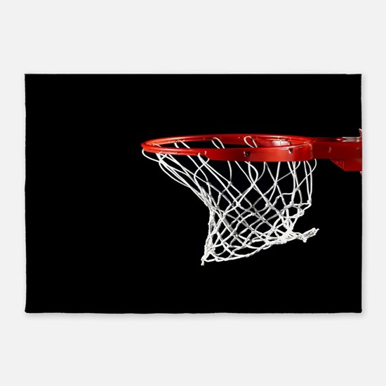 Basketball Hoop 5'x7'Area Rug