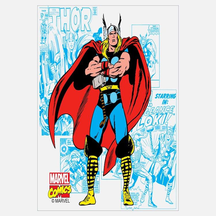 Thor wall art thor wall decor - Marvel comics decor ...
