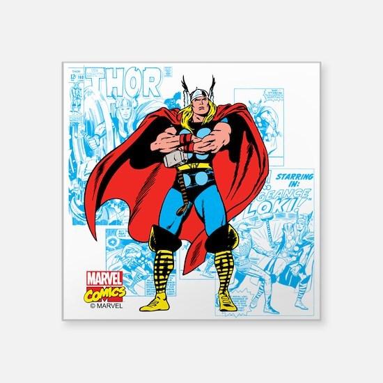 "Marvel Comics Thor Square Sticker 3"" x 3"""