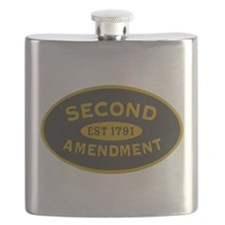 2A Oval Dark Olive/HE Yellow Flask