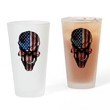 Flag & Skull Drinking Glass