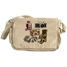 retro photographer vintage camera Messenger Bag