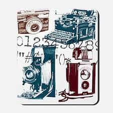 retro photographer vintage camera Mousepad