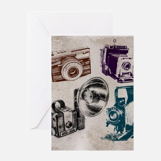 retro photographer vintage camera Greeting Cards