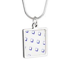 Blue Square Shadow Miranda 34 Necklaces