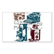retro photographer vintage Decal