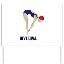 Dive Diva Yard Sign