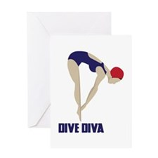 Dive Diva Greeting Cards