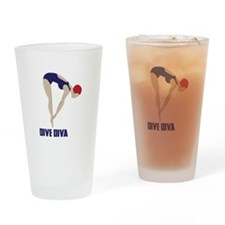 Dive Diva Drinking Glass