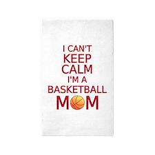 I can't keep calm, I am a basketball mom 3'x5' Are