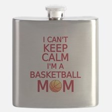I can't keep calm, I am a basketball mom Flask