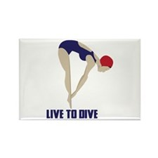 Live To Dive Magnets