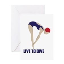 Live To Dive Greeting Cards
