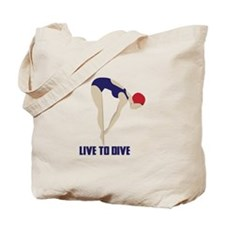 Live To Dive Tote Bag