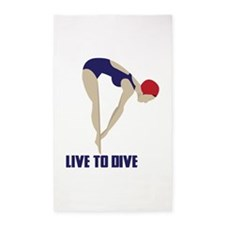 Live To Dive 3'x5' Area Rug