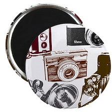 retro photographer vintage camera Magnets