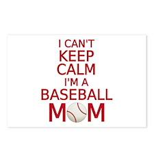 I can't keep calm, I am a baseball mom Postcards (