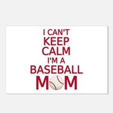 I can't keep calm, I am a baseball mom Postcards (