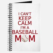 I can't keep calm, I am a baseball mom Journal