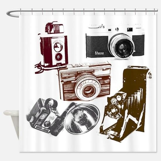 Unique Camera Shower Curtain