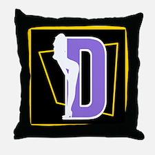 Naughty Initial Design (D) Throw Pillow