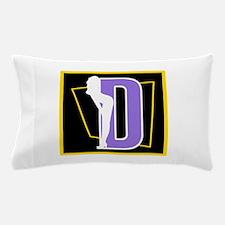 Naughty Initial Design (D) Pillow Case