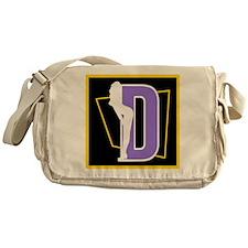 Naughty Initial Design (D) Messenger Bag
