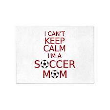 I can't keep calm, I am a soccer mom 5'x7'Area Rug