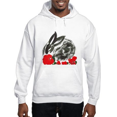 red flower blanket Hooded Sweatshirt