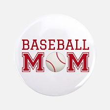 """Baseball mom 3.5"""" Button"""