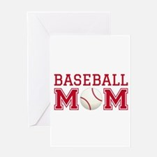Baseball mom Greeting Cards
