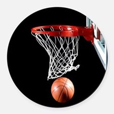 Basketball Point Round Car Magnet